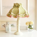Италия цветок зеленая лампа спальня прикроватные Континентальный идиллической деревни ретро пюре декоративные лампы