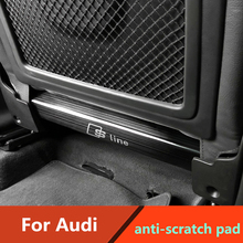Anti-scratch pad For Audi A3 A6L Q3 Q5L Q2L Interior Rear Seat anti-kick plate All inclusive design stainless steel trim 2pcs