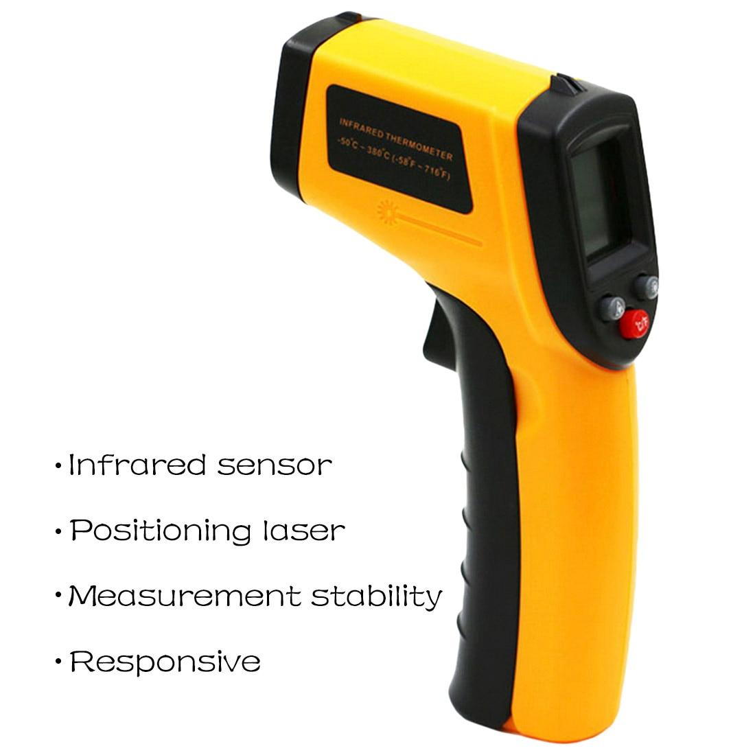 -50 To 380C LCD Display IR Laser Infrared Digital Temperature Meter Sensor Portable Temperature Gun Measuring Device