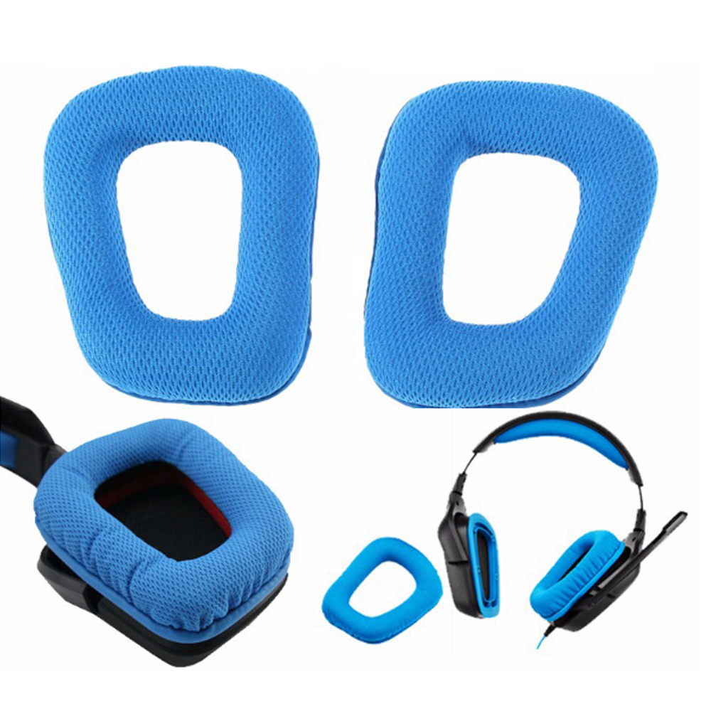 Blue Replacement Ear Pads For Logitech G430 G930 Headphones Headband Cushion Pad