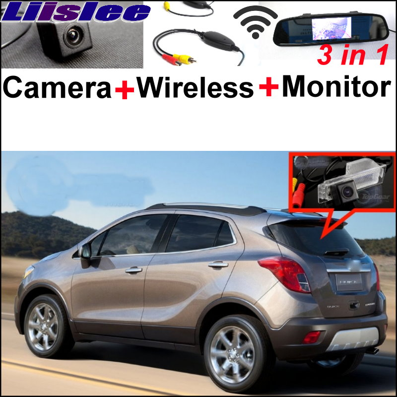 Liislee For Buick Encore For Opel Mokka 2012~2014 3 in 1 Special WiFi Camera + Wireless Receiver + Mirror Screen Parking System for buick encore opel mokka 2012 2014 car rain lamp super bright special laser beam rear end collision warning light page href