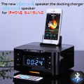 NFC Bluetooth Speaker carregamento Docking Station para Android e Apple Com Rádio Despertador