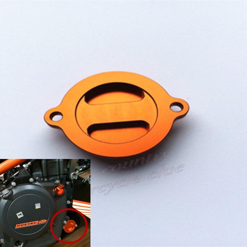 Мотоцикл с ЧПУ Алюминиевый Двигатель Масляный фильтр резервуара Крышка оранжевый на 2013-2015 годы КТМ 125 200 390 Дюк