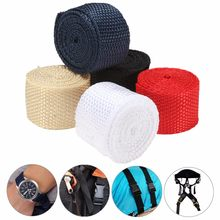 25mmx1M Webbing Tape Nylon Webbing Straps DIY Pet Rope Sewing Crafts Backpack Bags Belt Knapsack Strapping Safety Belt(China)