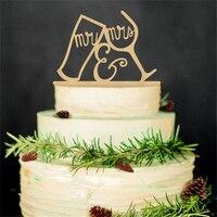 2017 Yeni Gelenler 1 Adet Casamento Ahşap Fincan Düğün Pastası Topper Düğün Dekorasyon Düğün Kek Standı Doğum Günü Parti Malzemeleri Için
