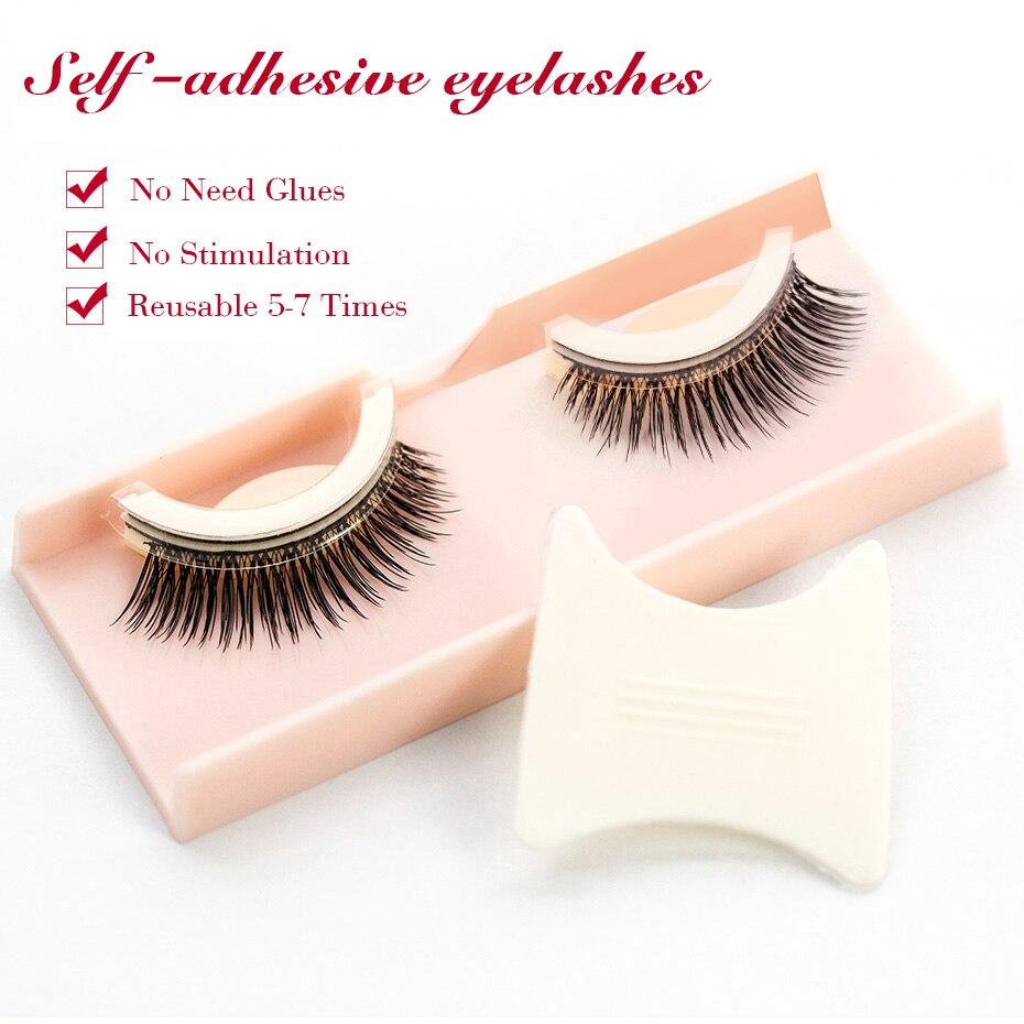 Shozy 3D Handmade Self Adhesive Eyelashes Make up False Eyelashes Extension Natural Long Self-adhesive Eyelahses-SA-KS01