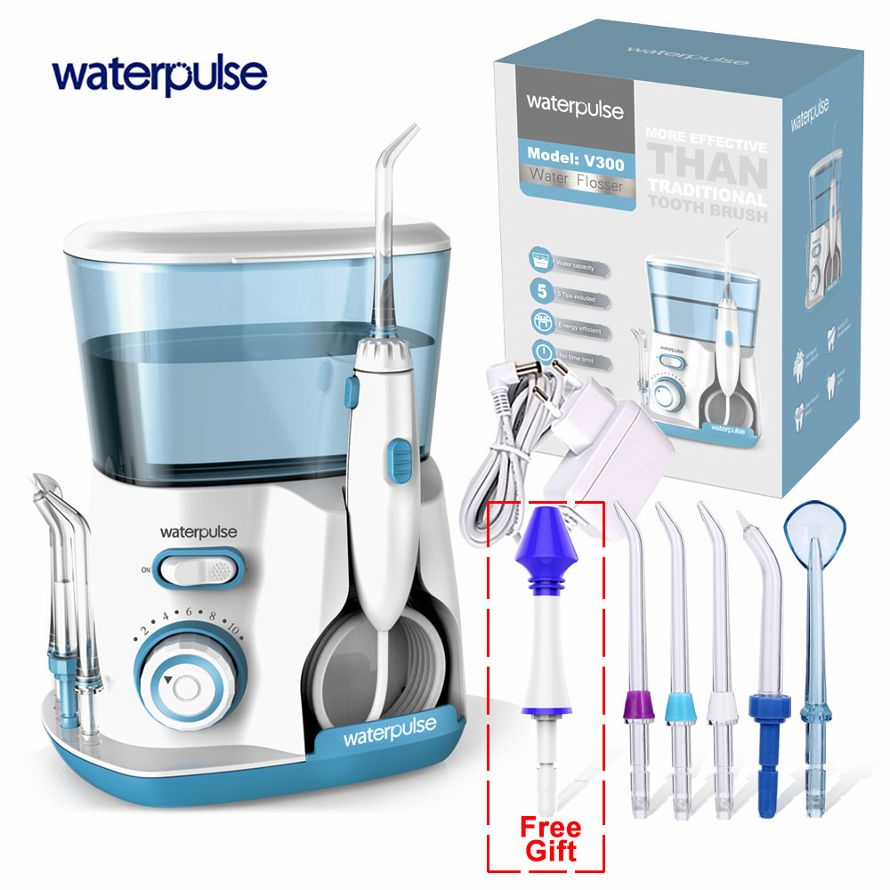 Waterpulse V300 Électrique Oral Irrigator Eau Flosser Oral Bouche Dents nasale Ramasser Nettoyage Dentaire Irrigator Portable Eau Floss