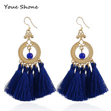 New big-name long earrings Bohemian tassel earrings For women accessories Clothes decoration Party gift Women's accessories(China)