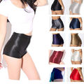 NEW High Waist Women Girls Shiny Stretch Disco Shorts Fashion Apparel Hot