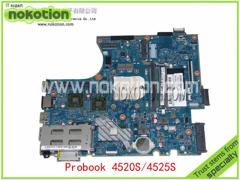 NOKOTION 613212-001 Laptop Motherboard For HP Compaq Probook 4520S 4525S with Mobility Radeon HD 5430 Mainboard quying laptop lcd screen for hp compaq hp probook 4545s 4540s 4535s 4530s 4525s 4515s series