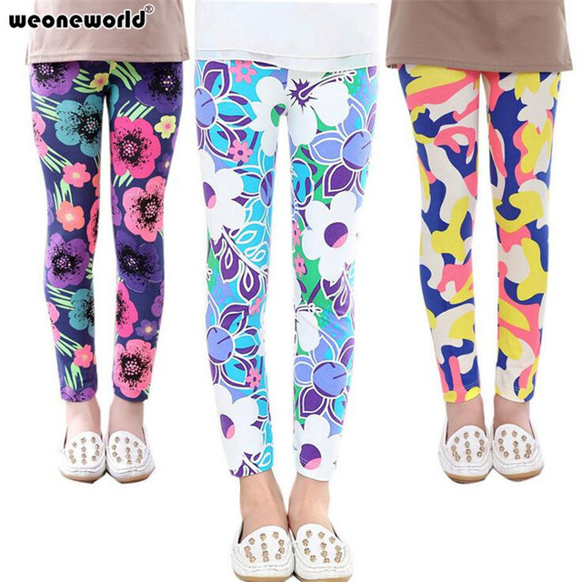efcddea11a02d WEONEWORLD Baby Girl Pants New Arrive Printing Flower Girls Leggings  Toddler Classic 2-14Y baby Girl Leggings Kids Leggings