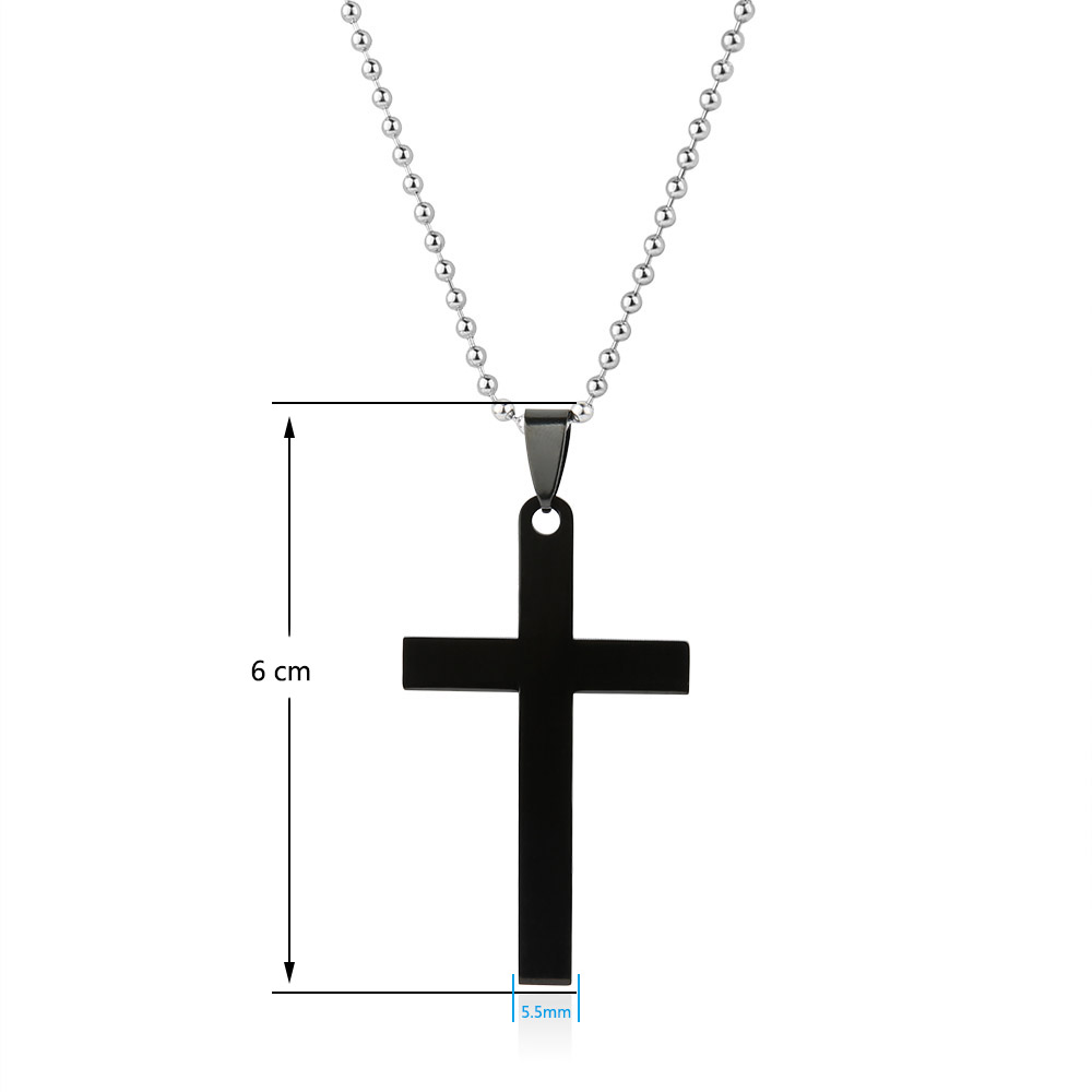 Gagafeel personalized engraved name stainless steel cross pendant gagafeel personalized engraved name stainless steel cross pendant necklaces black silver colors lovers jewelry best gift in pendant necklaces from jewelry aloadofball Image collections