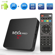 MXQ PRO Smart Android 7.1 TV BOX 2GB 16GB RK3229 Quad Core Suppot H.265 UHD 4K 2.4GHz WiFi Media Player PK X96 mini Set-top Box
