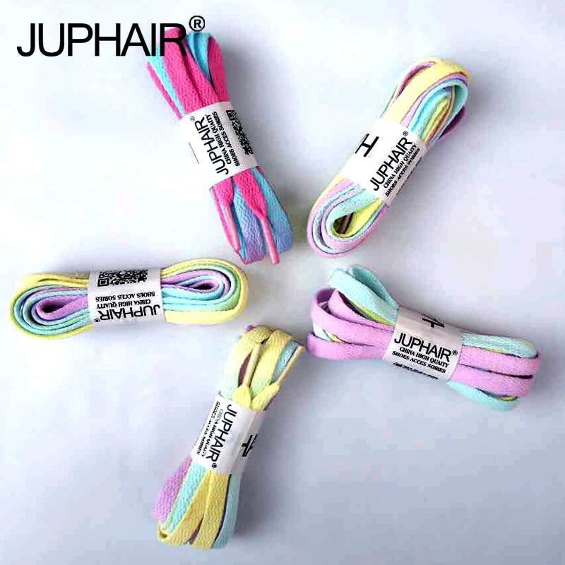 JUP3 Pairs Candy Color Laces Color Hand-dyed Shoelaces Tie-up Gradient Shoelaces Canvas Shoe Shoelace  Gradient color Accessorie