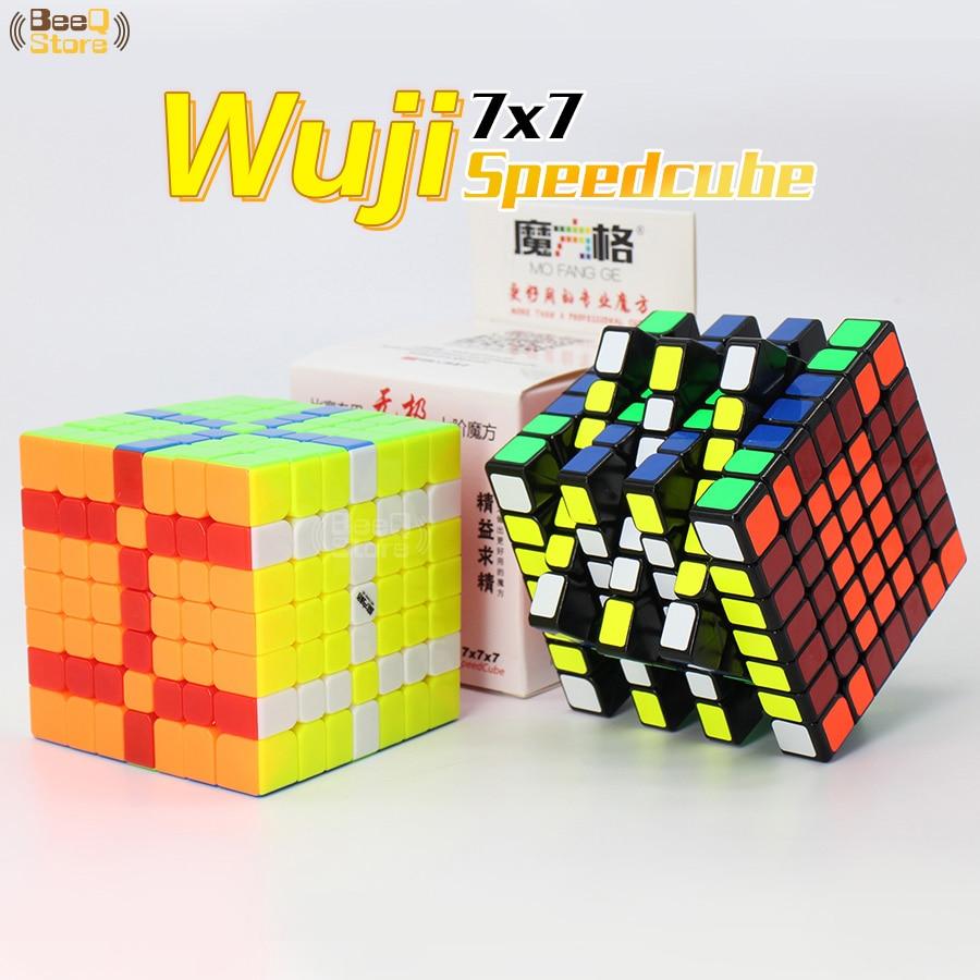Qiyi Mofangge 7x7 Wuji Cube Puzzle noir jouet éducatif sans bâton 7 couches 7x7x7 WCA jouets pour l'éducation d'apprentissage de la concurrence