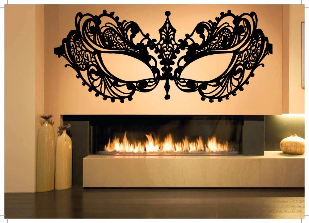 Masquerade Mask Vinyl Wall Decal Carnival Party Decor Art Stickers Mural #2607di