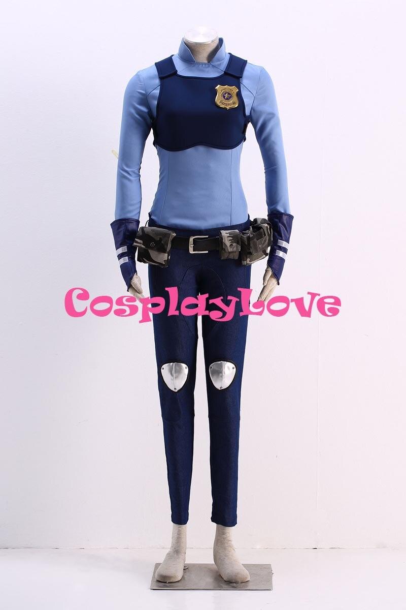 Hot Sale Stock American Movie Rabbit Judy Hopps Cosplay Costume Zootopia Judy Cosplay