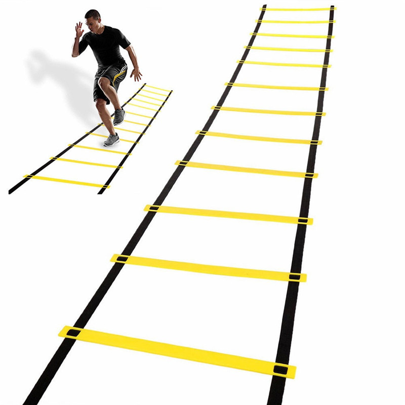 Agility Ladder Speed Ladder Nylon Straps 6M 12-Rung For Kids Adults Football Soccer Speed Training With Carry Bag Sport Fitness