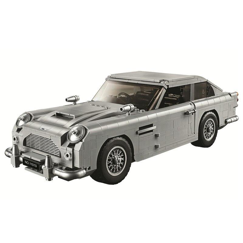 Создатель Джеймс Бонд Aston Martin DB5 строительные блоки комплект набор кирпичей классические модели города игрушки для Детский подарок Совмест...