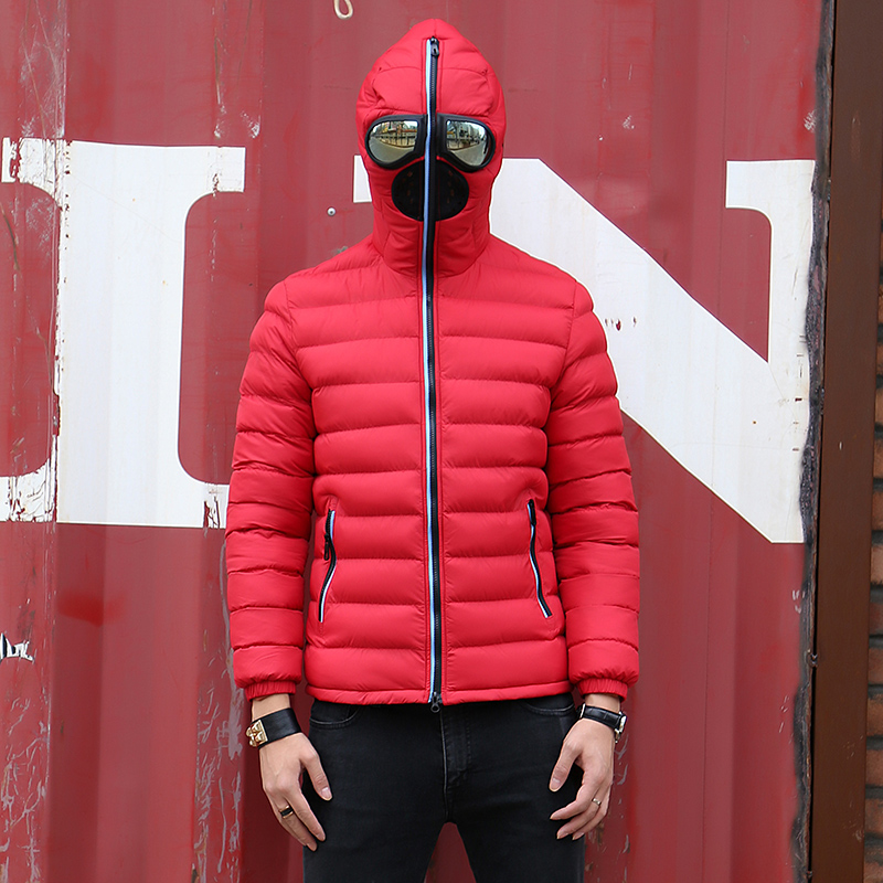Image 4 - New Winter Jacket Men Thermal Jacket Warm Men Parkas Fancy Hooded  with Glasses youth Man Jackets Outwear strange Clothing 1049Parkas