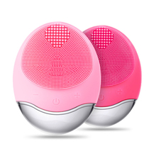 Silicone Facial Cleansing Brush with Gentle Exfoliation and Sonic Electric Pad Waterproof Rotating Skin Cleanse