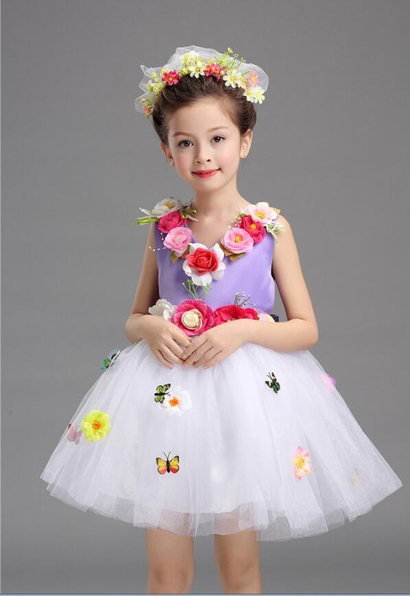 Платье для балета с блестками для девочек; нарядное детское платье для бальных танцев и сценических танцев; детское платье-пачка для выступлений в джазовом стиле - Цвет: Фиолетовый