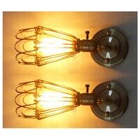 Metallo Rustico Muro Scone moderna Vintage Industriale Loft Lampada Da Parete Della Luce (Bronzo, 1 applique da parete + 1 lampadina)