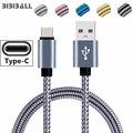 Кабель USB Type-C длиной 1 м и 2 м для Huawei P20 Lite, Samsung Galaxy Note 8 9 A3 A5 A7 2017 S8 S10, кабель для зарядки и передачи данных USBC, кабель для передачи данных