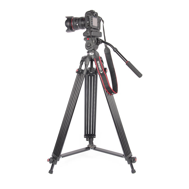 JieYang jy0606 jy 0606 Professional Tripod camera tripod Video Tripod Dslr VIDEO Tripod Fluid Head Damping