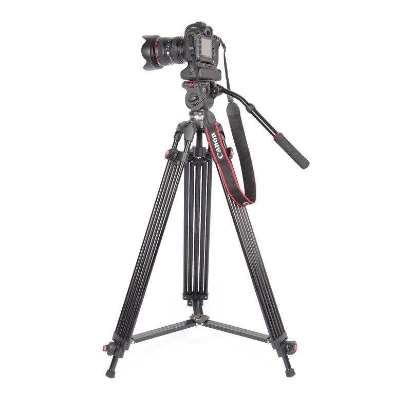 JieYang jy0606 jy 0606 trépied professionnel/trépied vidéo/Dslr trépied vidéo tête fluide amortissement pour vidéo-in Trépieds from Electronique    1