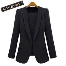 AISHGWBSJ Free shipping 2016 new women spring and autumn fashion slim blazer small suit jacket female plus size coat Xx222