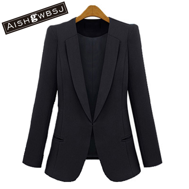 AISHGWBSJ Free shipping 2017 New women Spring and Autumn Fashion slim blazer small suit jacket female