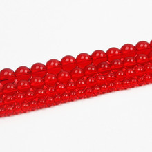 pick 4 6 8 1012mm Summer Synthesis Crystal Red Finished Crystal Glass Stone Beads For Jewelry Making DIY Bracelet Necklace