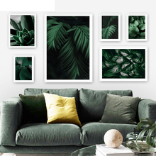 Green Succulent Plants Monstera Leaf Nordic Posters And Prints Wall Art Canvas Painting Wall Pictures For Living Room Home Decor цена 2017
