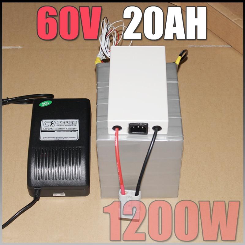 60V 20Ah LiFePO4 Akku, 1200W elektrische Fahrradbatterie + BMS - Radfahren - Foto 2