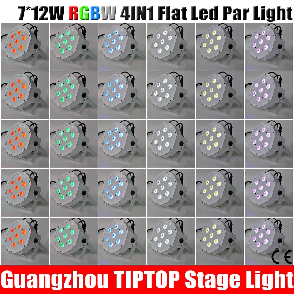 Wholesale Price 30XLOT 90W 4 8 Channel RGBW Led Flat Par Light 7 12W for Club