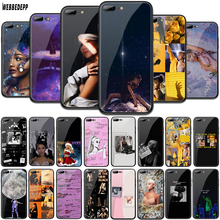 WEBBEDEPP Ariana Grande Tempered Glass TPU Cover for Apple iPhone 6 6S 7 8 Plus 5 5S SE XR X XS 11 Pro MAX Case цена