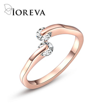 AAA cz diamond wedding rings for women rose gold plated engagement ring fine party jewelry anel feminino aneis anillos mujer
