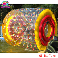 Amusement park aqua toys transparent water ball person inside,inflatable bubble rolling ball with free pump