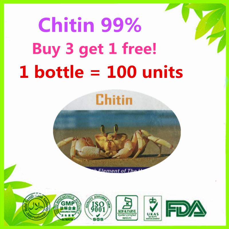 (Buy 3 Get 1 Free) Chitosan Deacetylated chitin Deacetylation 99% health and enhance immunity 100 units biofunctionalization of chitosan