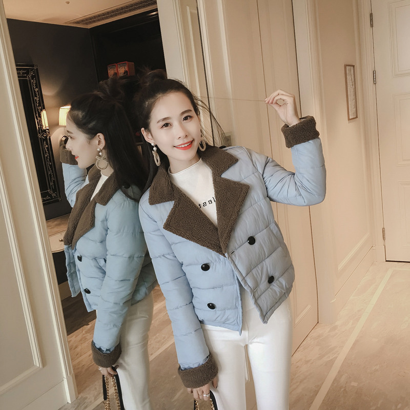 Pregnant women jacket 2018 stitching cotton clothing winter fashion short paragraph ladies down coat double breasted clothing