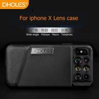PHOLES 6 In 1 Dual Optics Phone Lens 160 Degree Fisheye Lens 110 Degree Wide Angle