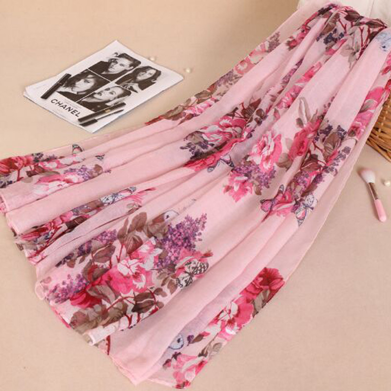 Rural Amorous Feelings Printing Scarves Spring Summer Love Of Butterfly Brand Women Scarf Shawl Hijab Scarf 85-180cm