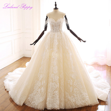 Lceland Poppy Lace Appliques A Line Wedding Dresses 2020 Boat Neck Sleeveless Spaghetti Straps Beaded Bridal Gowns Chapel Train