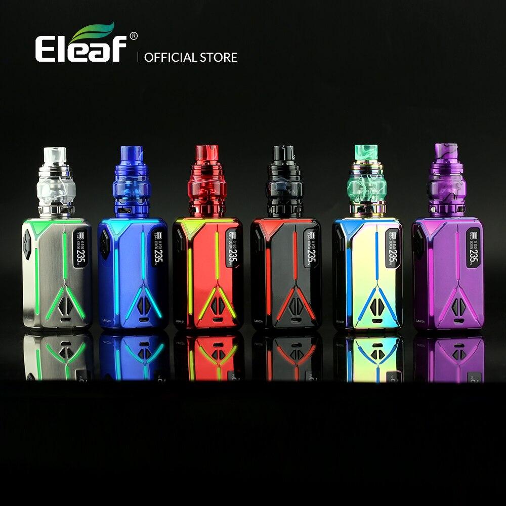 D'origine Eleaf Lexique Boîte Mod avec ELLO Duro kit HW-M/HW-N Bobine Sortie de 235 W 6.5 ml Électronique cigarette Kit