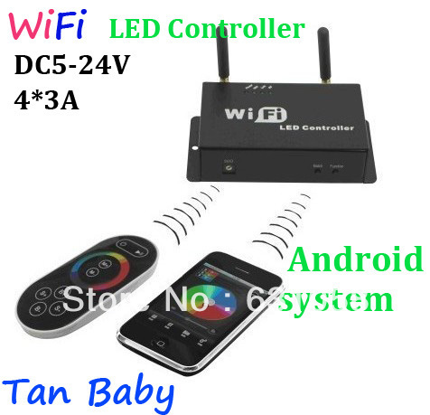 Free Shipping,5pcs/lot 4A*3,SPI Signal Output For Android Or IOS System,Controlled By Remote Controller And Wifi