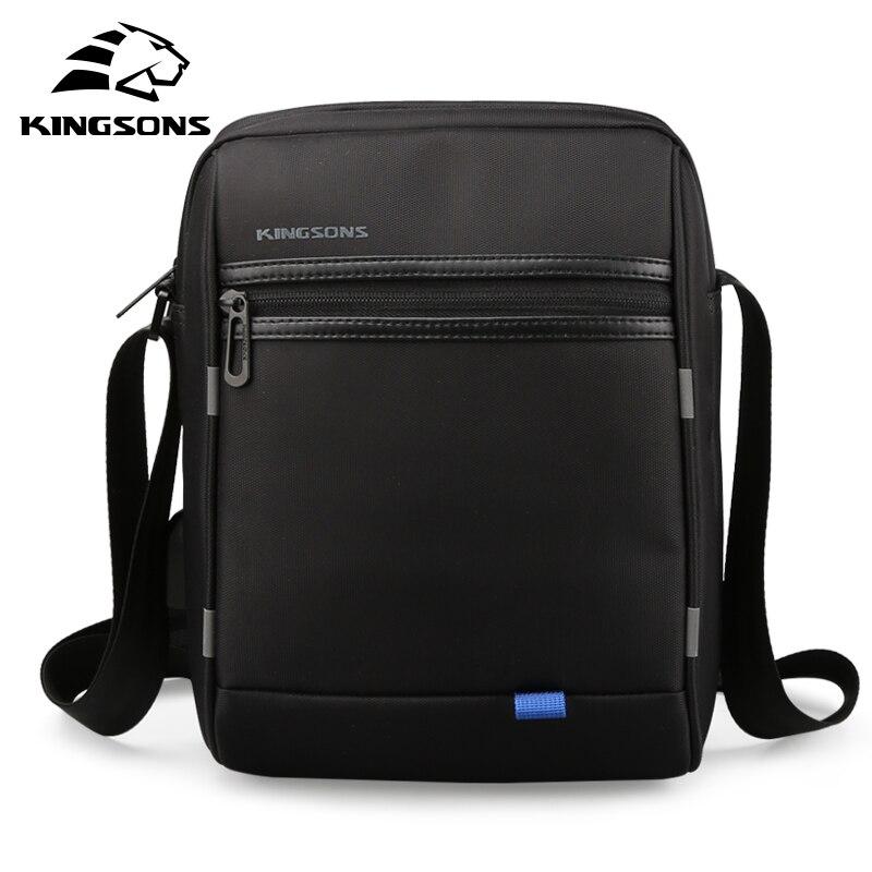 Kingsons 2018 New USB Charging Tablet PC Bag for Pad Crossbody Bag Men Laptop Shoulder Messenger Bag Waterproof 10.1 inch