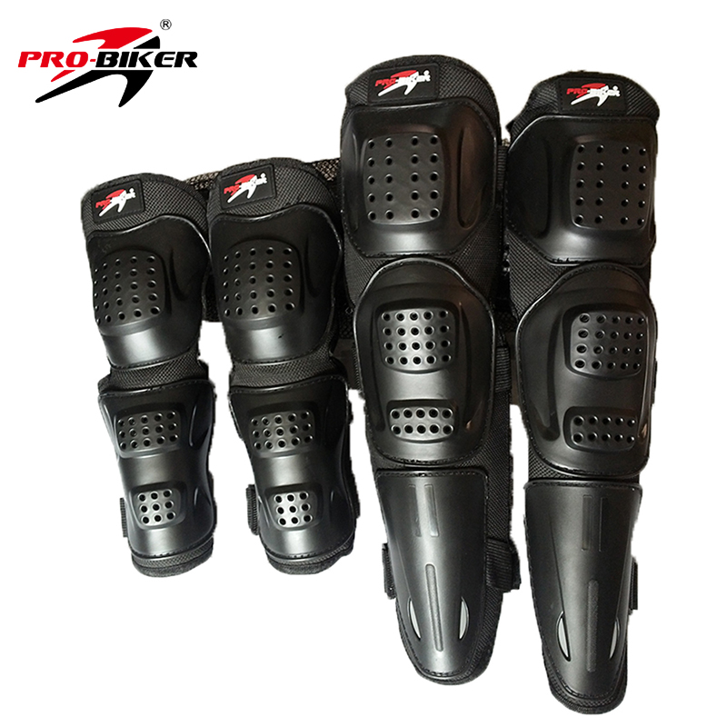 PRO-BIKER Knee Pad Motorcycle Riding Kneepad Motocross Off-Road Elbow & Knee Protective Gear Set Brace Pads Protector Guard защитные колпаки для мотоциклов cuirassier защита защитника kneepad off road mx motocross brace elbow guard защитные очки для гонок