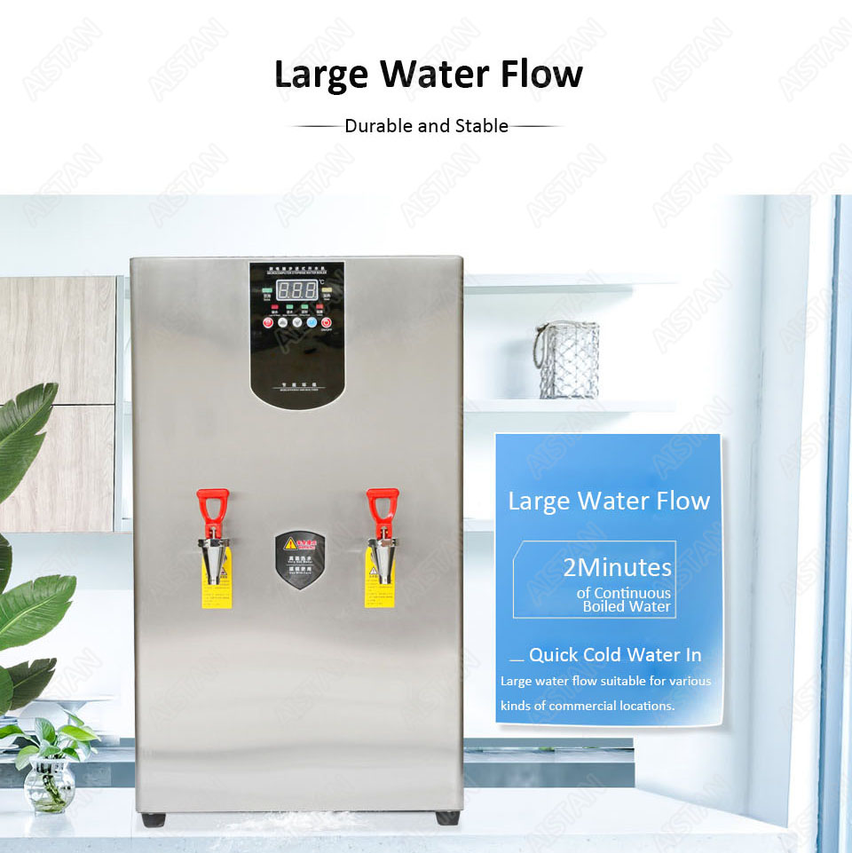 KW30L Commercial big drinking water boiler commercial stainless steel electric stepwise water boiler 30L 40L 60L 220V 6