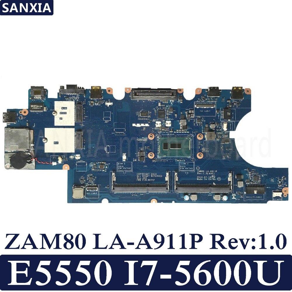 KEFU ZAM80 LA A911P Rev 1 0 Laptop motherboard for Dell Latitude E5550 Test original mainboard